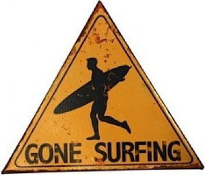 Sign - Tin Gone Surfing