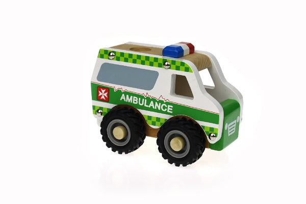 Wooden Ambulance Green