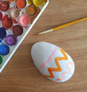 Decorate a card board egg