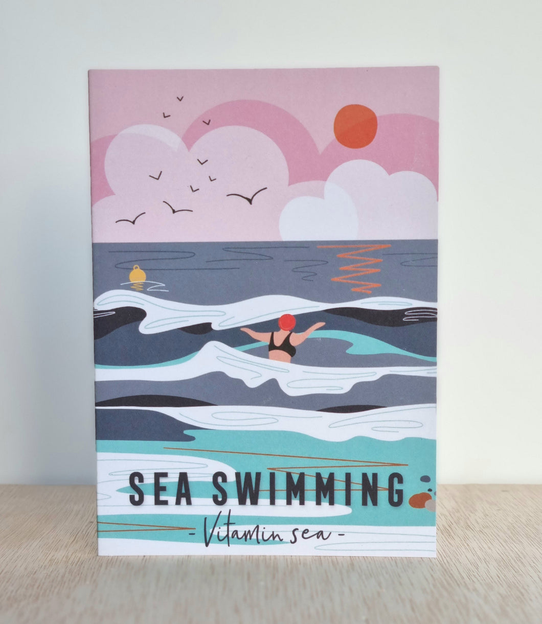 Sea swimming card