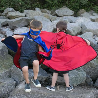 Reversible adventure cape and mask