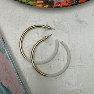 Gold hoops with paint detail