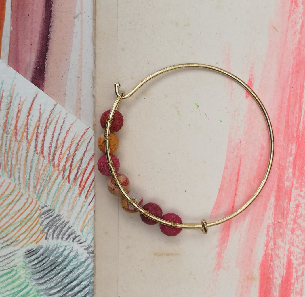 Brass and sari bangle