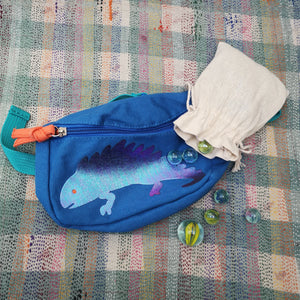 Iguana bum bag and marbles