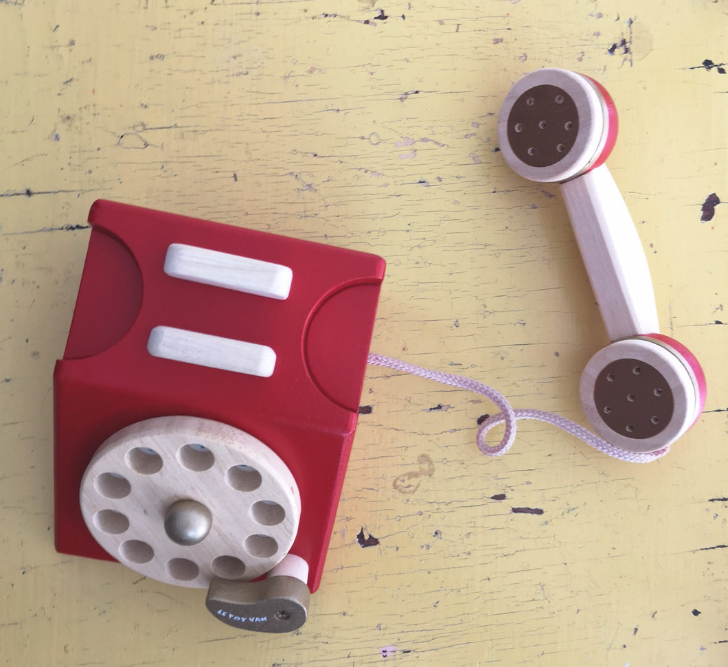 Wooden telephone