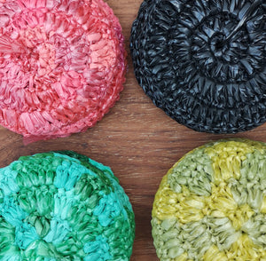 Recycled plastic coasters