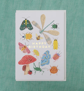 Bug happy birthday card