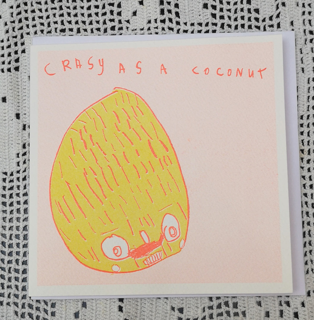 Crasy as a coconut card