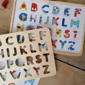 Multi language alphabet puzzle