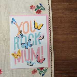 You rock mum card