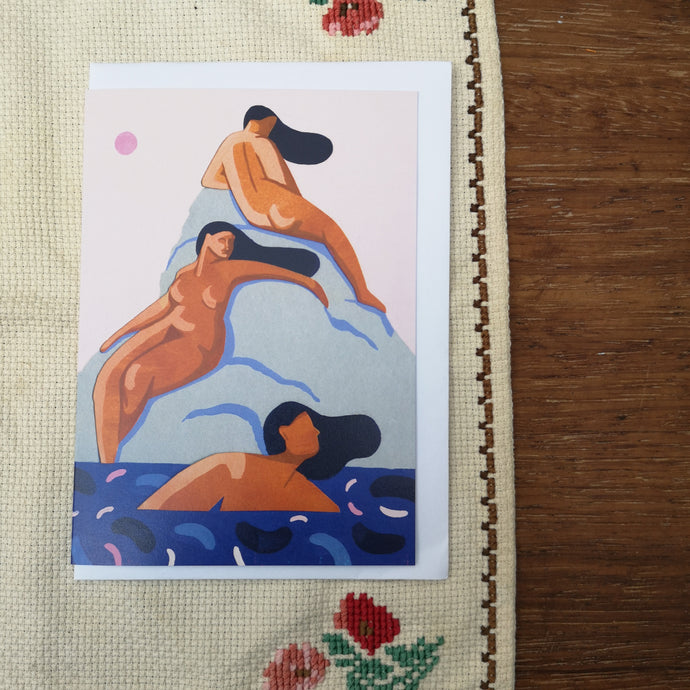 Bathing ladies card