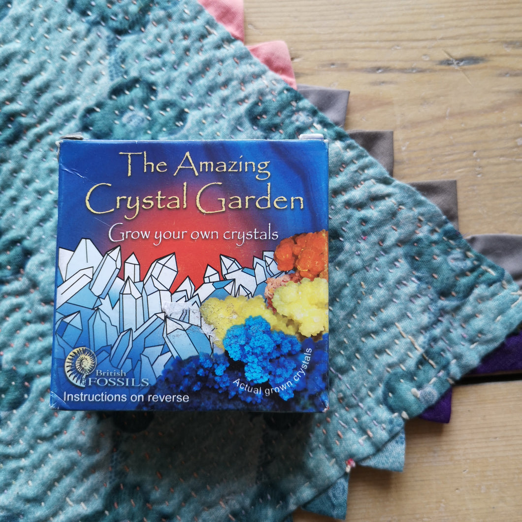 Mini crystal garden