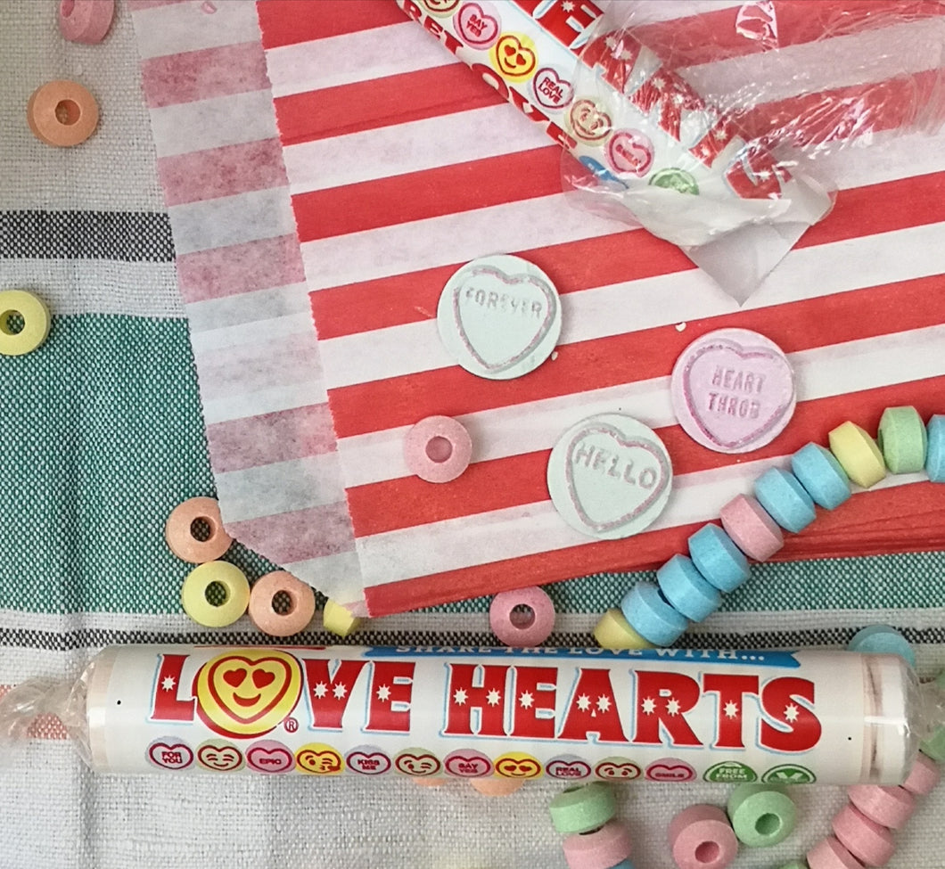 Giant love hearts