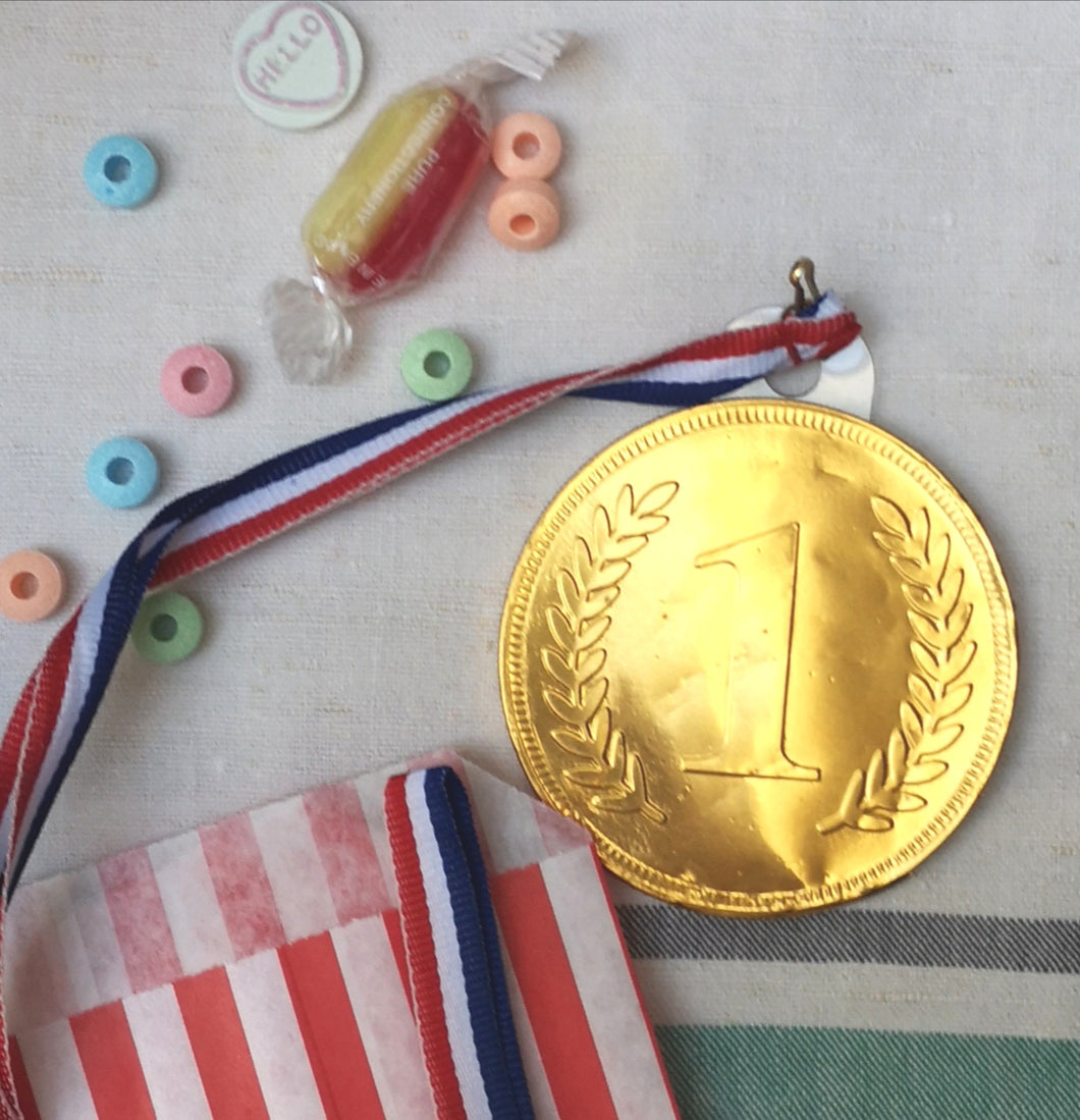 Giant chocolate coin medal