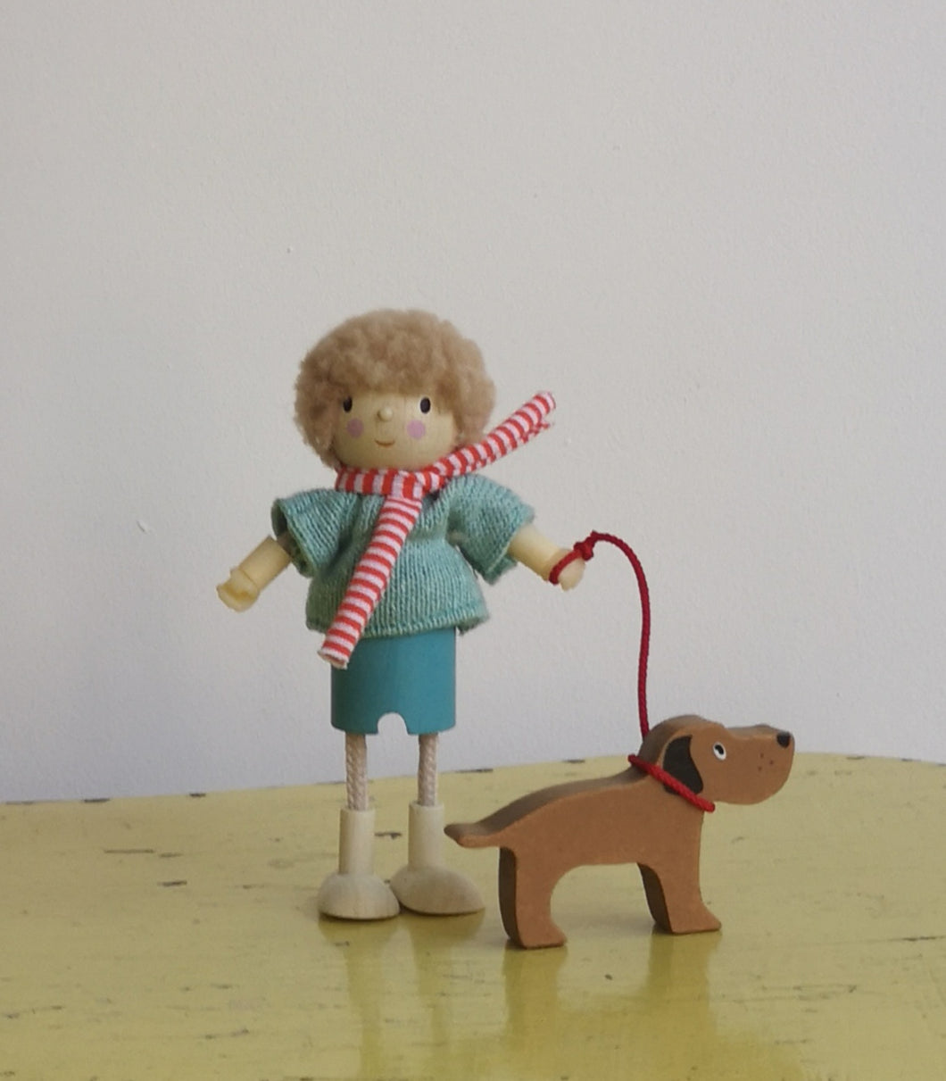 Wooden dog walker
