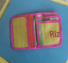 Recycled rice sack wallet