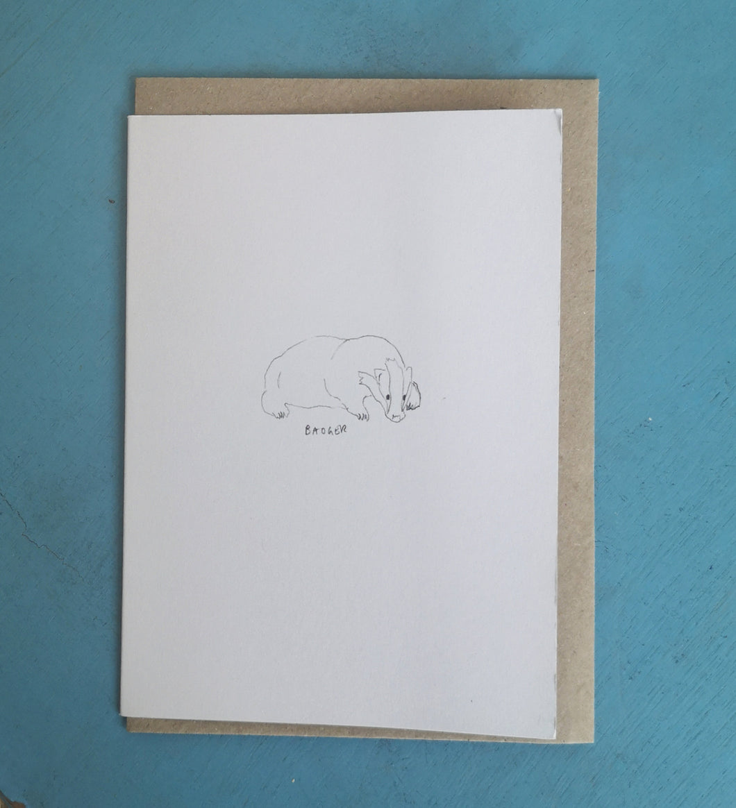 Animal line drawing card