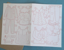 Paper doll clothes card