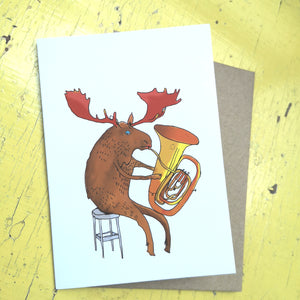 Musical moose greeting card