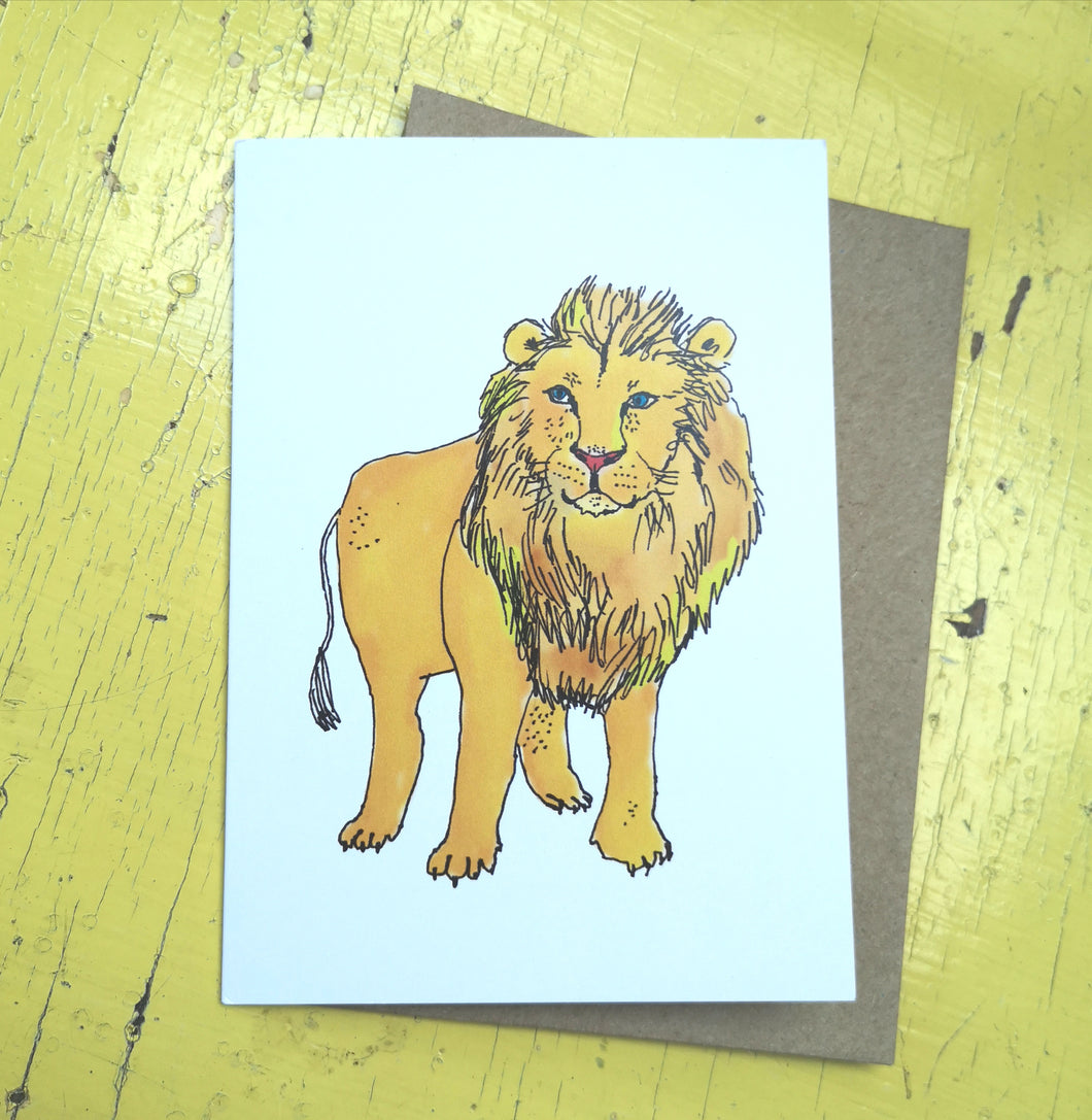 Luscious lion greeting card