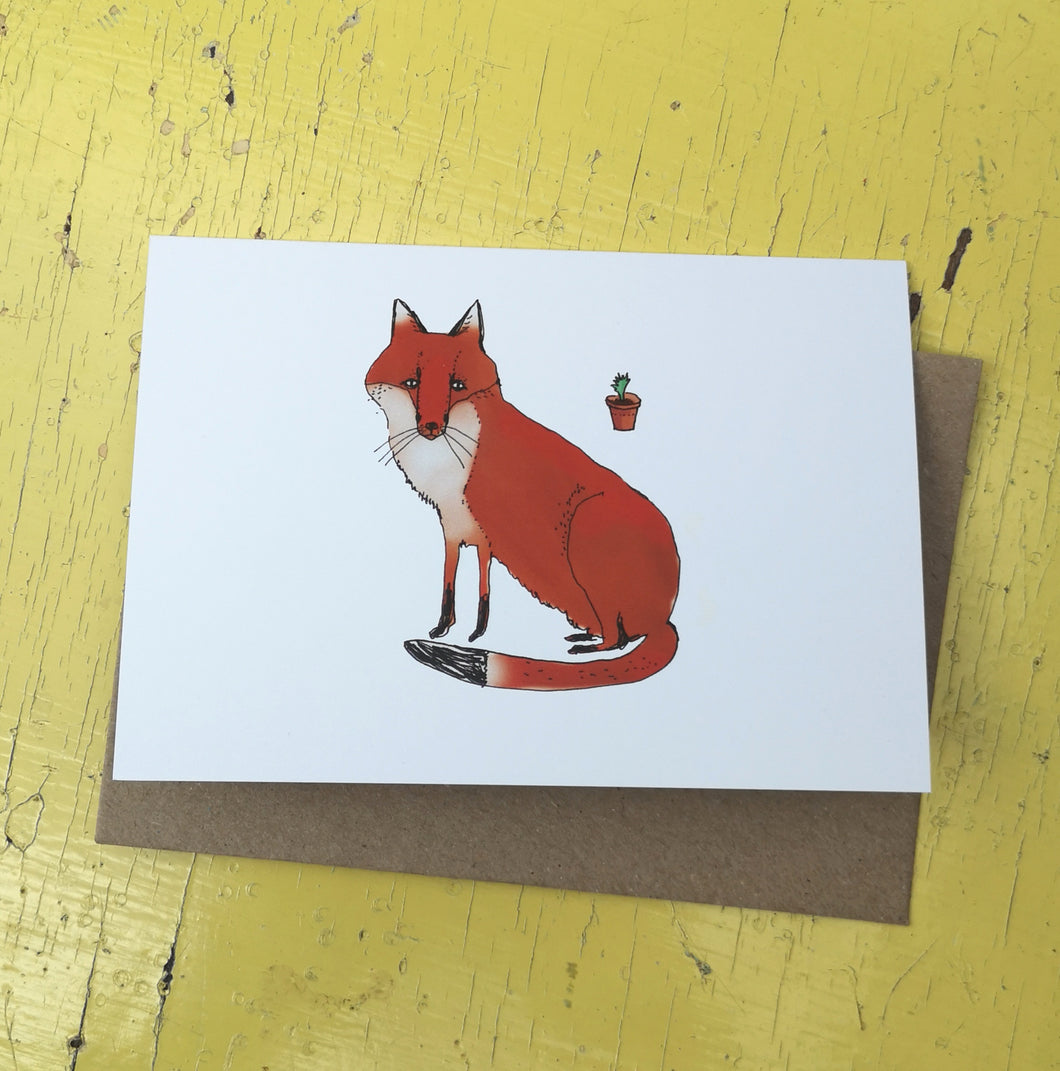 Fabulous fox greeting card