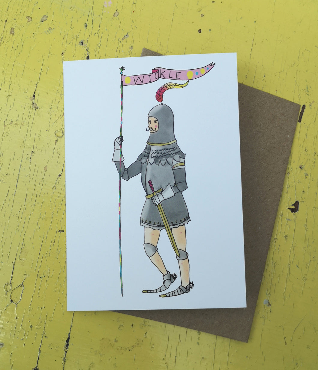 Kinky knight greeting card