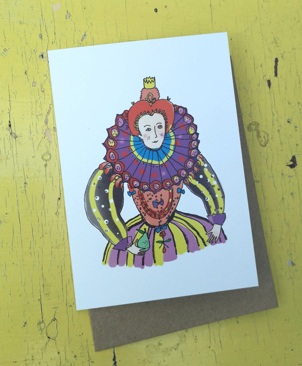 Queenie queen greeting card