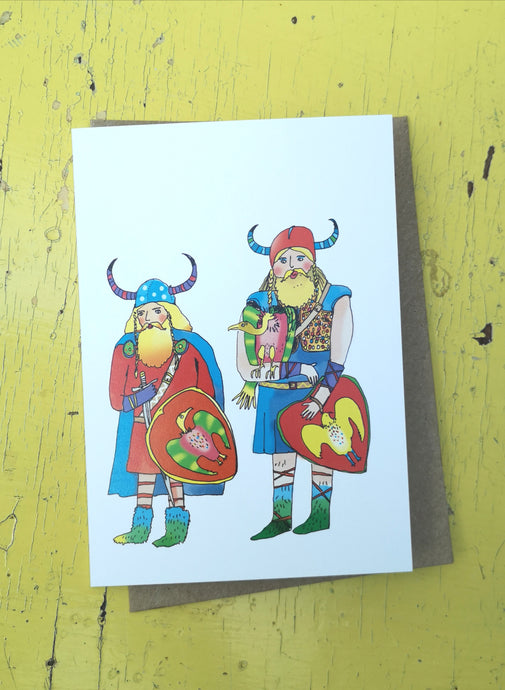Vicious vikings greeting card