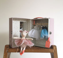 Ballerina mouse in a suitcase