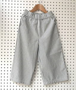 Striped pull up trousers
