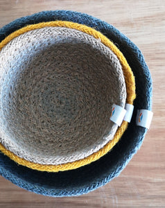Nest of 3 jute bowls