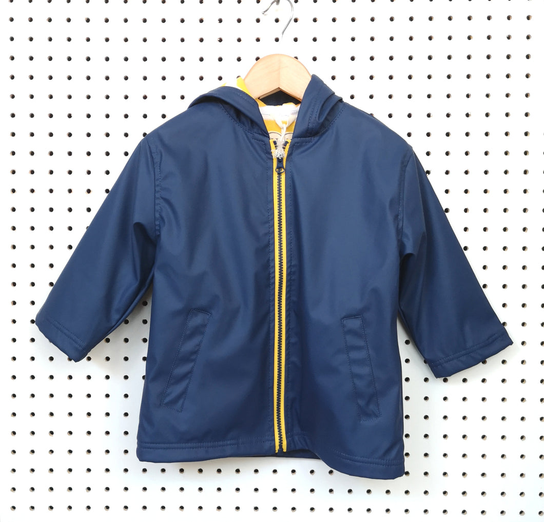 Navy raincoat
