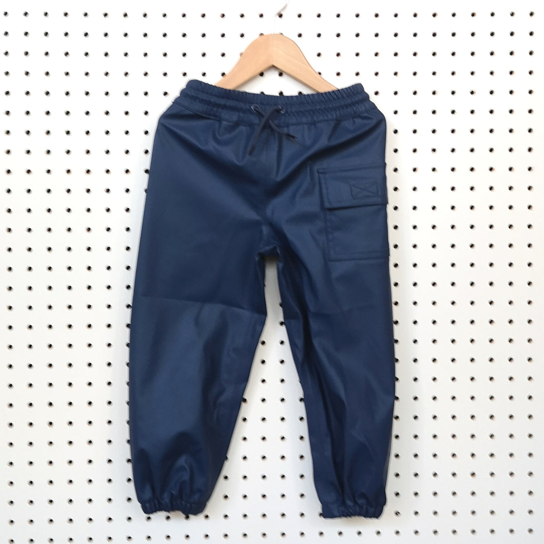 Navy rain trousers