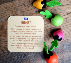 Vegetable memory game