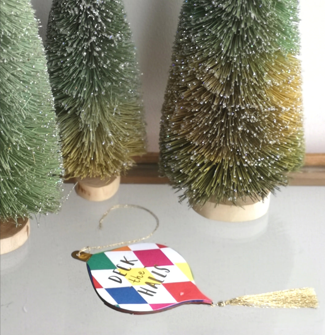 Hanging decoration card