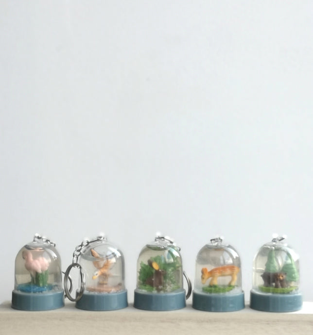 Snow globe key ring