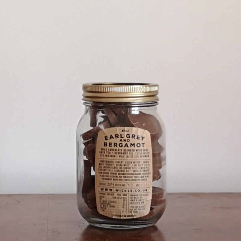 Jar of flavoured chocolate buttons