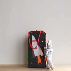 Astronaut in suitcase