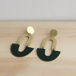 Brass and paint earrings