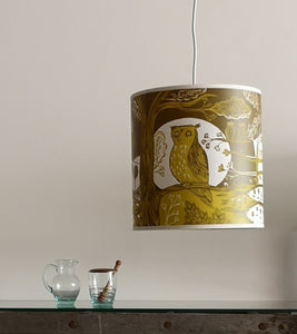 Regular green owl lamp shade