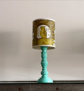 Small green owl lamp shade