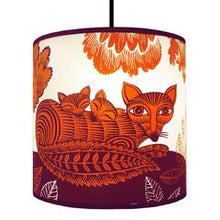 Small orange fox and cubs lampshade