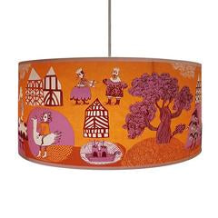 Orange Tudor Carnival lampshade