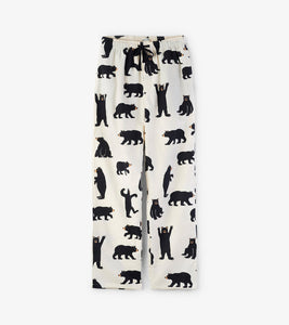 Black brushed cotton pj bottoms
