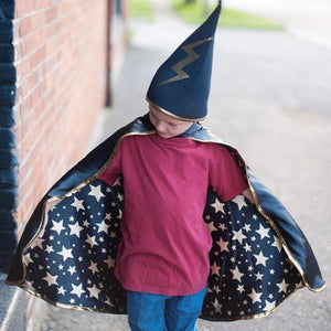 Reversible wizard cape and hat