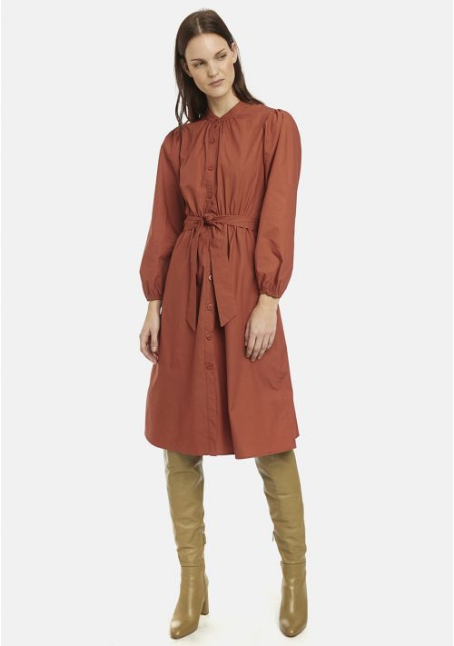 Terracotta shirt dress