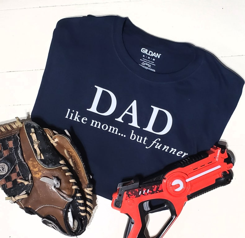 low priced b4c38 00435 Dad Like Mom but Funner Tee