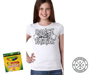 Dance with Fairies Coloring Shirt