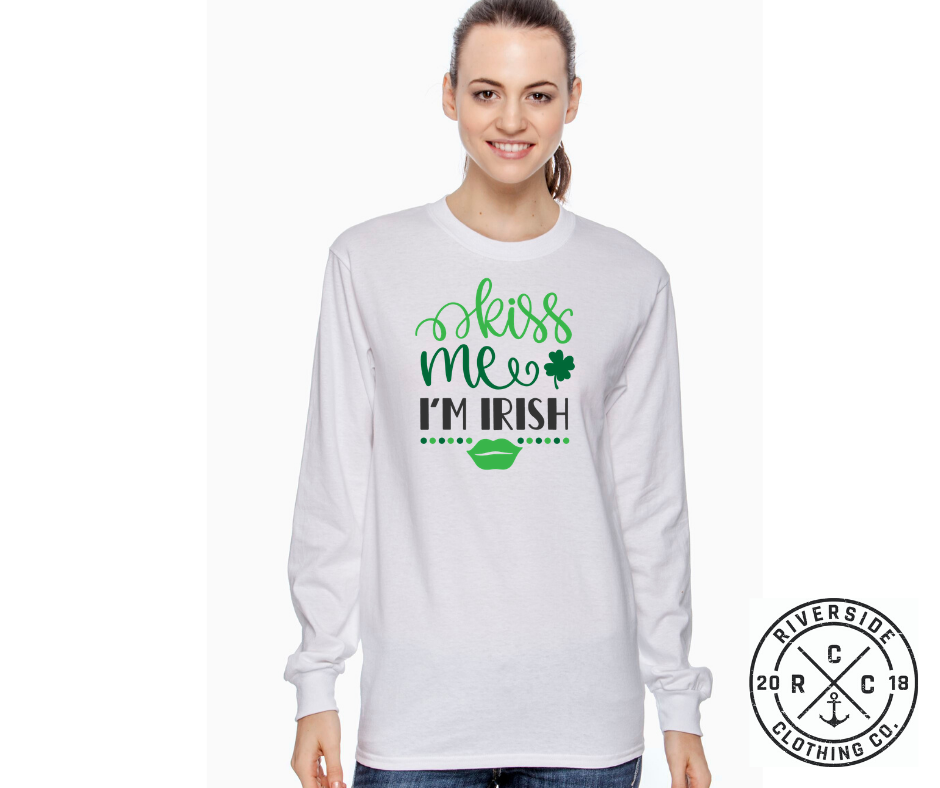 Kiss Me I'm Irish Long Sleeve Tee