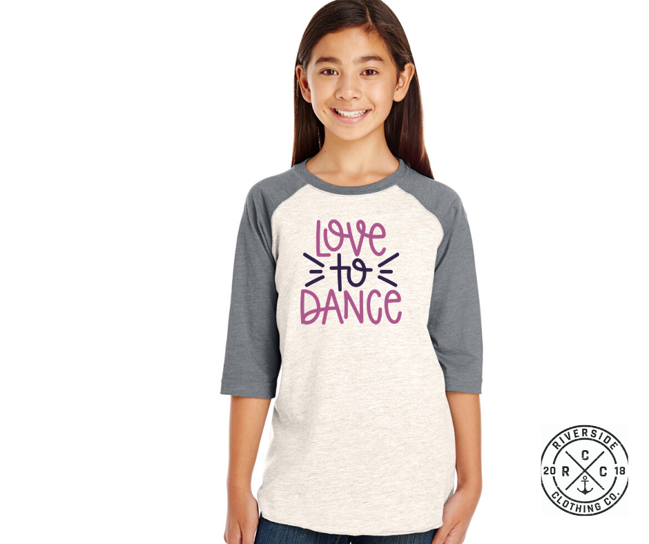 Love to Dance Kids Raglan